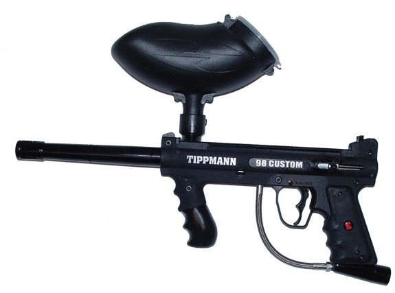 Tippmann Custom 98 paintball marker with a Qloader system | Qloader