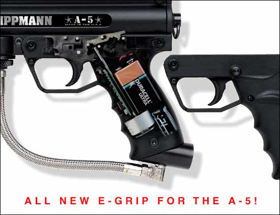 Tippmann A-5 with factory e-grip